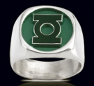 3526 Solid Sterling Silver Green Lantern Ring
