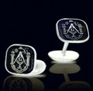 M014 Sterling Silver Masonic Cufflinks