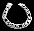 2347i S. Silver Heavy Figaro Bracelet Weight 145 grams