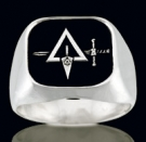 3366 Sterling Silver Masonic Ring