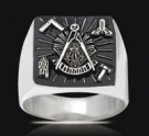 3543 Solid Sterling Silver Past Master Ring