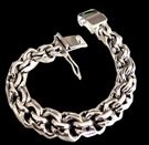 2345c S. Silver Heavy Bracelet Weight 90 grams