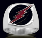3600N Solid Sterling Silver Professor Zoom Ring  (FLASH)