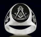 3383 Sterling Silver Past Master Masonic Ring