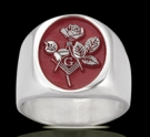 3561 Solid Sterling Silver Masonic Lady's Ring