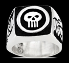 3598 Solid Sterling Silver Phantom Skull Ring