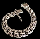 2345 S. Silver Heavy Bracelet Weight 215 grams