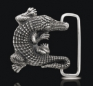 BB5200 Sterling Silver Alligator Belt Buckle