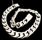 2346J S.Silver Heavy Necklace Weight 230 grams