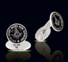 M010 Sterling Silver Masonic Cufflinks