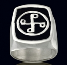 3240 Sterling Silver Phantom Good Mark Ring