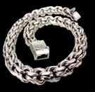 2345n2 S.Silver Heavy Necklace Weight 180 grams