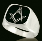 3364 Sterling Silver Masonic Ring
