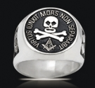 3521 Solid Sterling Silver Masonic Ring