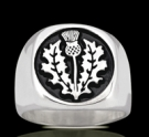 3558 Solid Sterling Silver Scottish Thistle Ring
