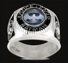 3430 Sterling Silver Justice League Batman Ring