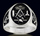 3378 Sterling Silver Masonic Ring