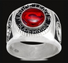 3431 Sterling Silver Justice League Superman Ring