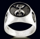 3324 Sterling Silver Shrine  Masonic Ring