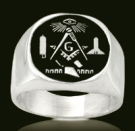3340 Sterling Silver Masonic Ring