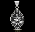 1236 Solid Sterling Silver Cullen Family Crest Pendant