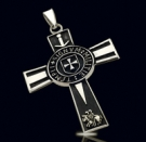 1198 Sterling Silver Templar Cross
