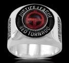 3649s Sterling Silver Justice League Red Tornado Ring