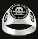 3320 Sterling Silver Skull Masonic Ring