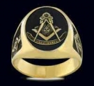 3383-GP Sterling Silver 18K Gold Plated Masonic Ring