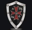 1225 Sterling Silver Knights Templar Shield Pendant