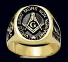 3375-GP Sterling Silver 18K Gold Plated Masonic Ring