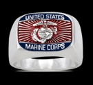 3584 Solid Sterling Silver Marine Corps USMC Ring