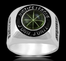 3642 Sterling Silver Justice League Martian Manhunter Ring