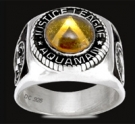 3436 Sterling Silver Justice League Aquaman Ring
