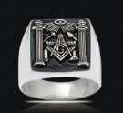 3547 Solid Sterling Silver Masonic Ring