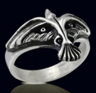 3211 Sterling Silver Brandon Lee The Crow Ring