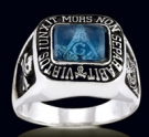 3348-BT Sterling Silver Masonic Ring