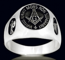 3306  Solid Sterling Silver Masonic Ring