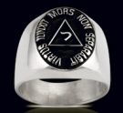 3604 Solid Sterling Silver 14th Degree Masonic Ring