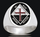 3536 Solid Sterling Silver In Hoc Signo Vinces Ring
