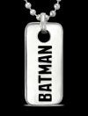 1268 Solid Sterling Silver Batman Pendant