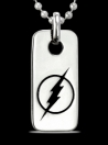 1269 Solid Sterling Silver Flash Logo Pendant