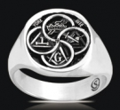 3487 Solid Sterling Silver York Rite Masonic Ring