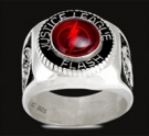3429 Sterling Silver Justice League Flash Ring