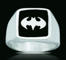 3124 Solid Sterling Silver Batman Ring