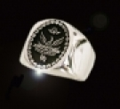 3654 Solid Sterlin Silver House of Bennu Crest ring
