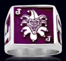 3626M Solid Sterling Silver Joker Ring