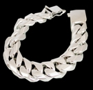 2346t S. Silver Heavy Bracelet Weight 265 grams