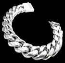 2346D S. Silver Heavy Bracelet Weight 80 grams
