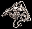 BB5201 Sterling Silver Dragon Belt Buckle